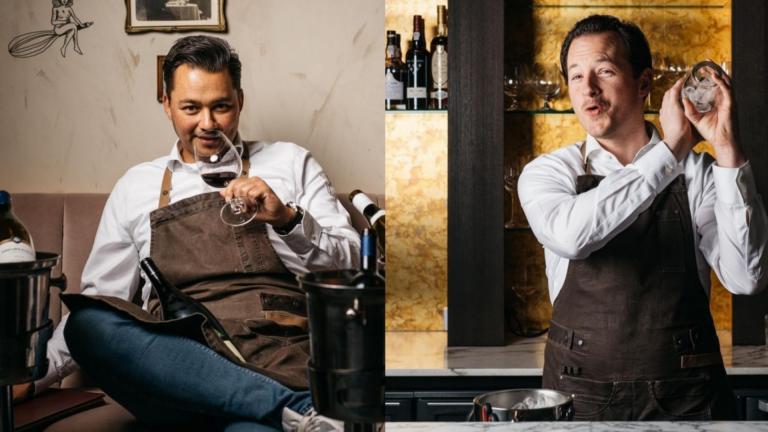 Levy Smit, Tim Sieben, Restaurant Onglet, Bruin schort, wijn, mixer, cocktail, bar