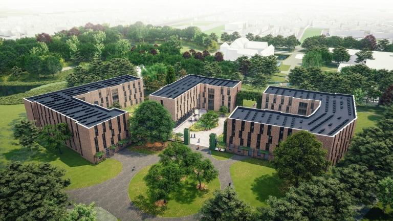 Luchtfoto impressie Student Residences
